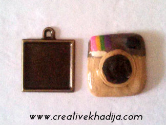 Instagram Logo Pendant Making with Polymer Clay