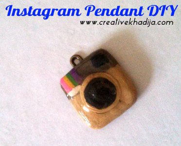 instagram logo handmade with polymer clay dough