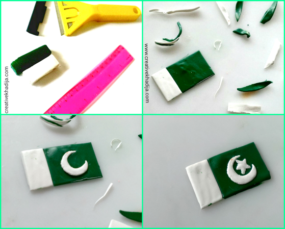 DIY clay charm-mobile with Pakistani Flag