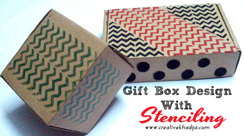gift box design with stenciling techniques