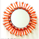 Sunburst mirror diy with spoons