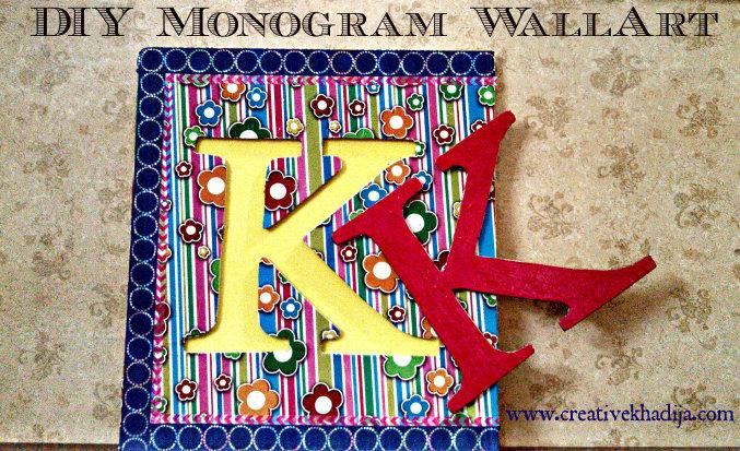 DIY monogram wall art tutorial
