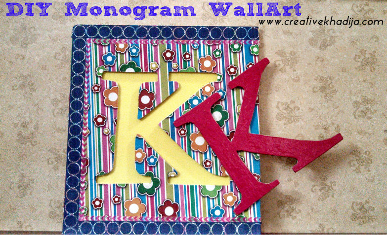 DIY monogram wall art tutorial1