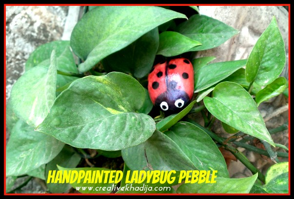 How-To Paint Ladybug Stone-Rock-Pebble