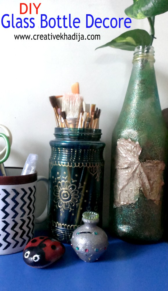 Upcycled bottle DIY for Fall Decore