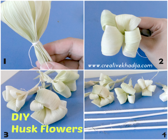 How To Make Corn Husk Flowers Bouquet for Fall