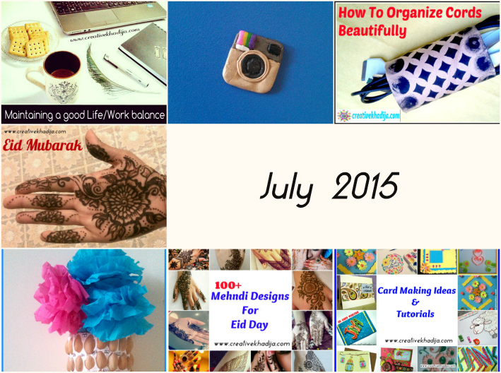 Creative Khadija Recap Of The Year 2015 september