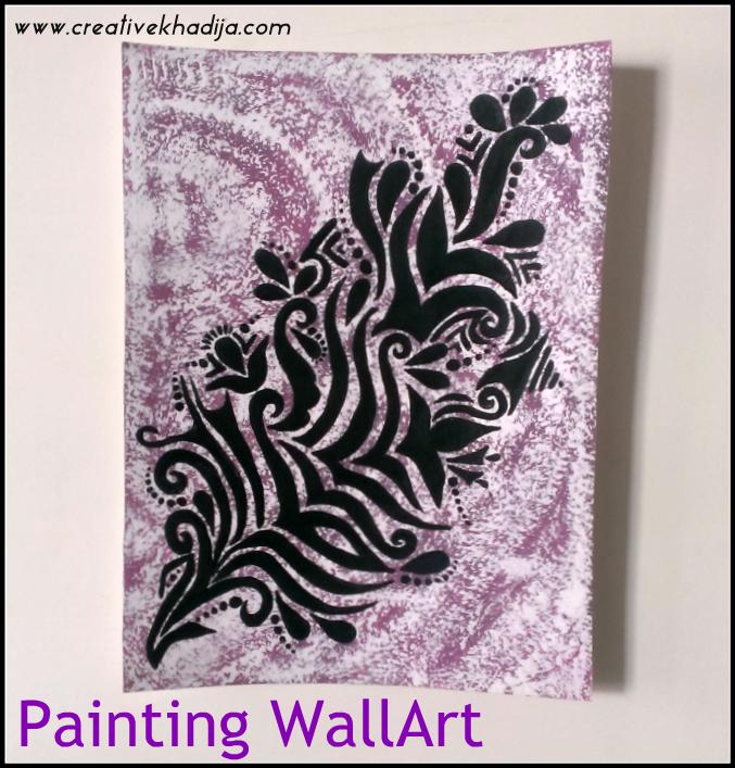 abstract wall art painting by creativekhadija