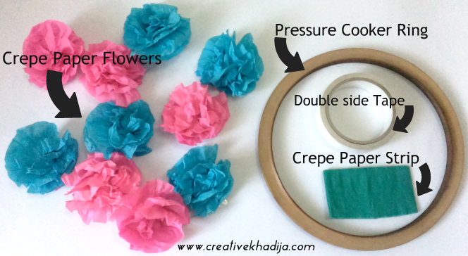 crepe paper flowers wreath making tutorial recycling