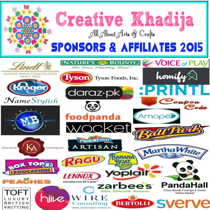 Creative Khadija Blog Sponsors 2015