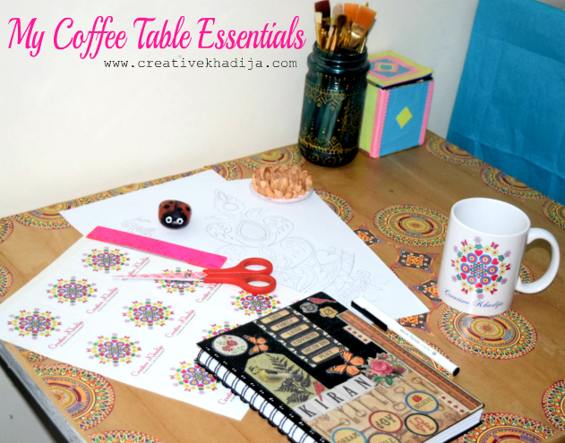 coffee table-workspace-art-essentials