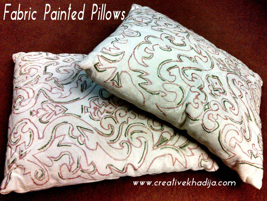 Fabric Paint Quilted Pillow