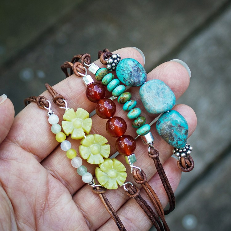 DIY-beaded-leather-bracelet