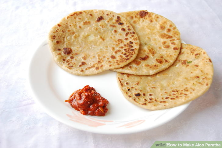 aalu ka paratha-potato paratha making