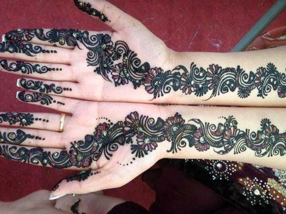 bridal vine hand mehndi