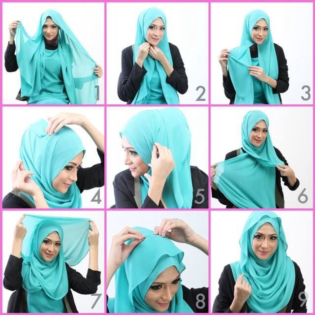 21+ Beautiful Hijab Styles and Scarf Wearing Ideas