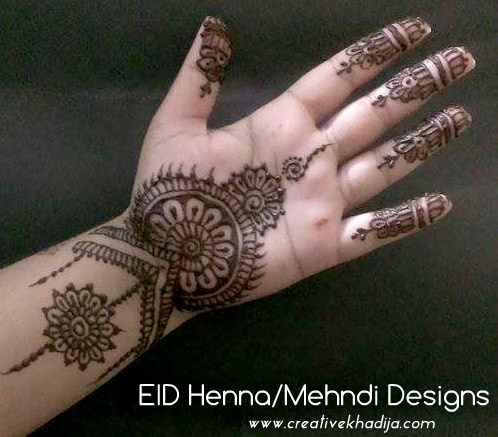 eid mubarak beautiful eid henna design
