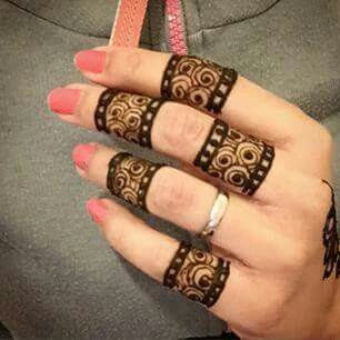 fingers mehndi design for eid
