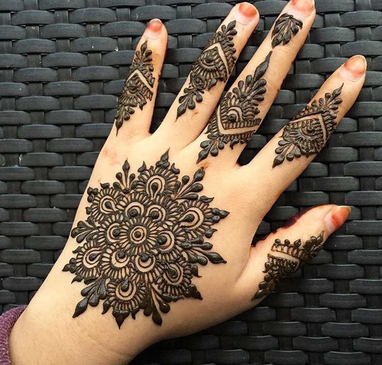 simple mehndi design 2016