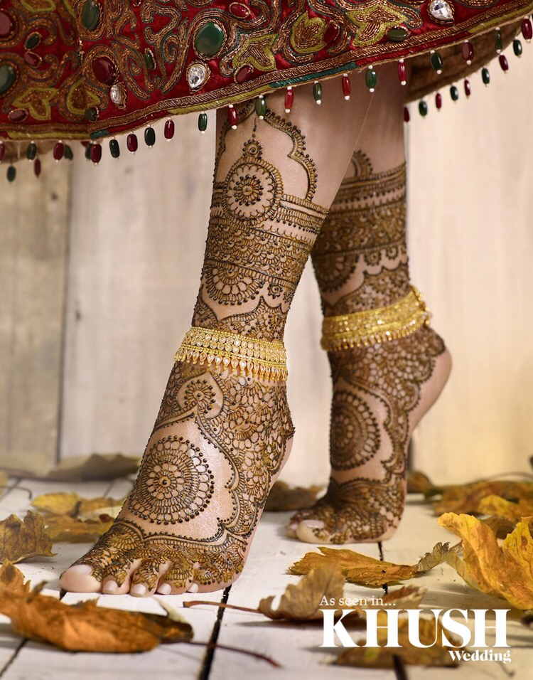 traditional feet mehndi