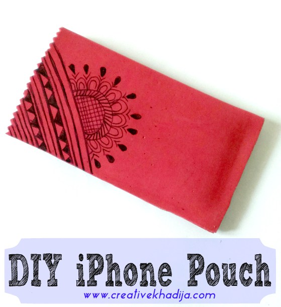DIY iphone pouch