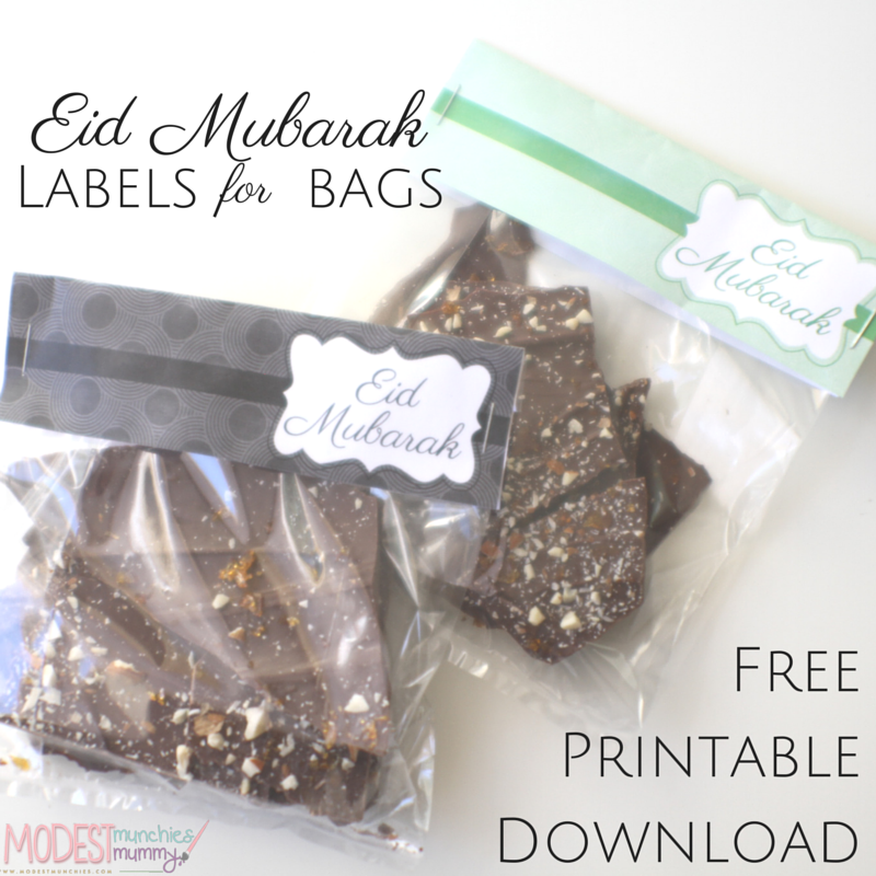 Eid mubarak labels and downloadable printable ideas