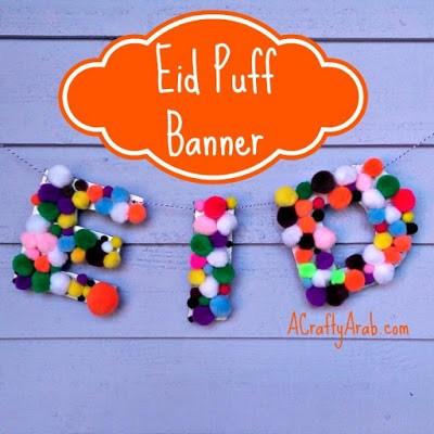 eid mubarak pom pom banner ideas tutorials