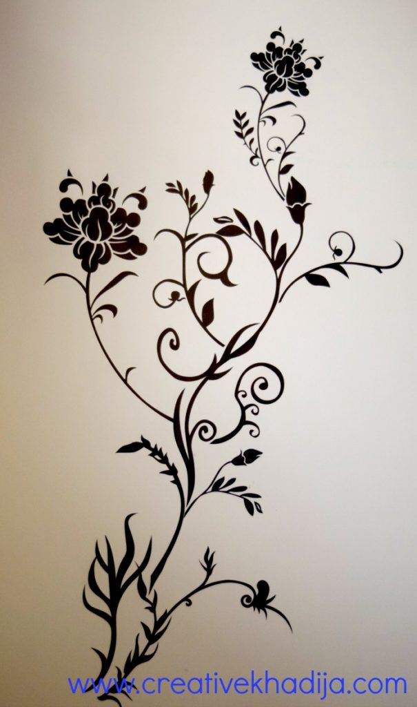 How to apply wall decal stickers wall art step by step DIY
