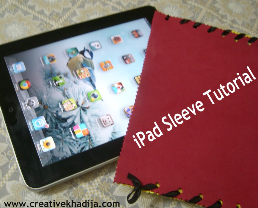 DIY ipad sleeve cover making