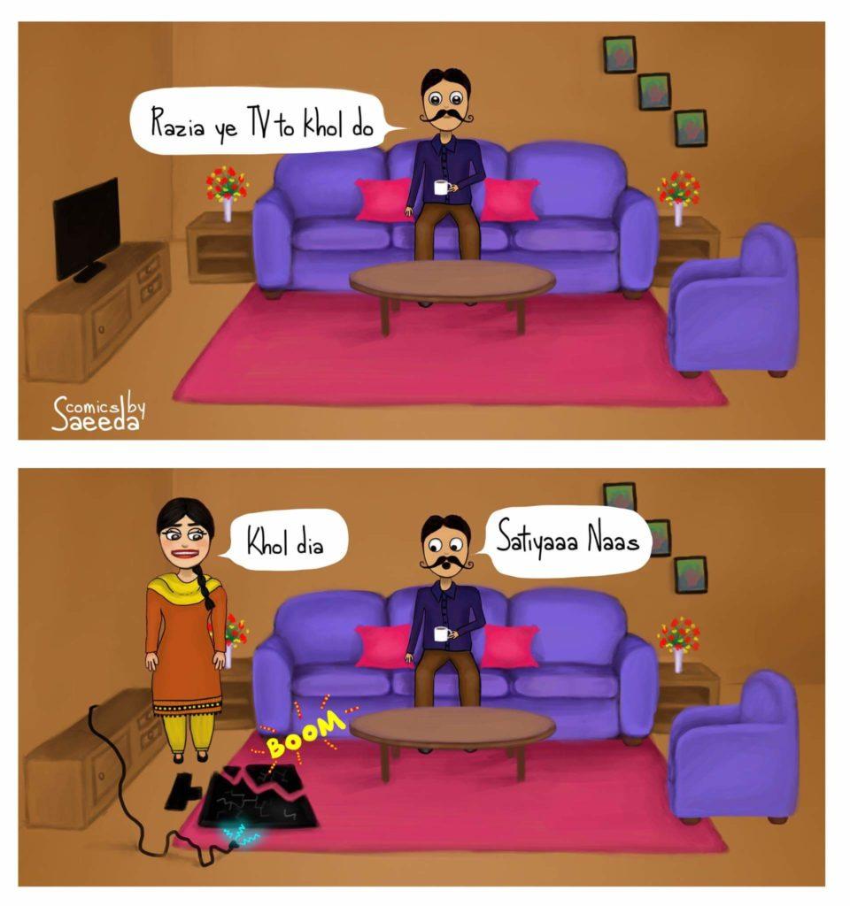 comics by saeeda