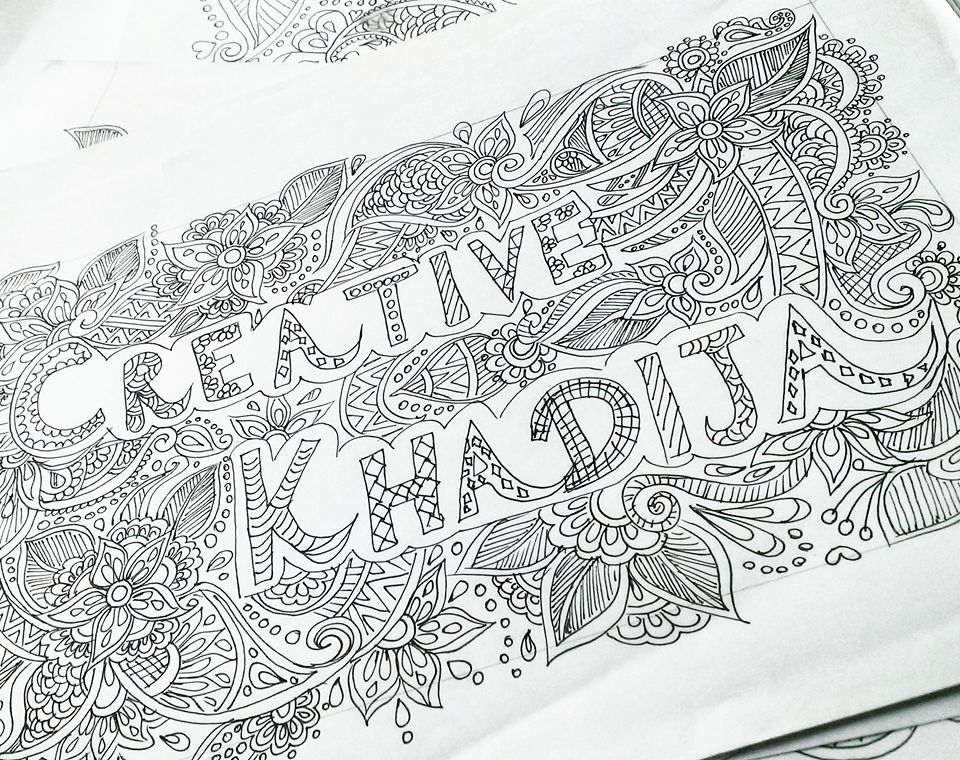 creative khadija freehand drawings and doodle work in progress