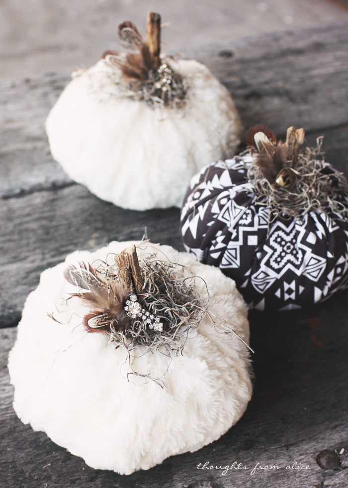 fall and halloween fabric pumpkins ideas for kids