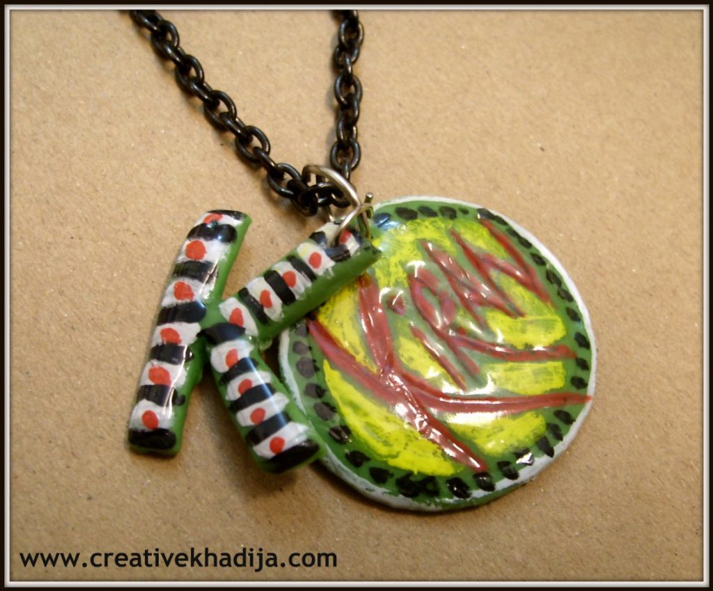 handmade dough necklace pendant DIY