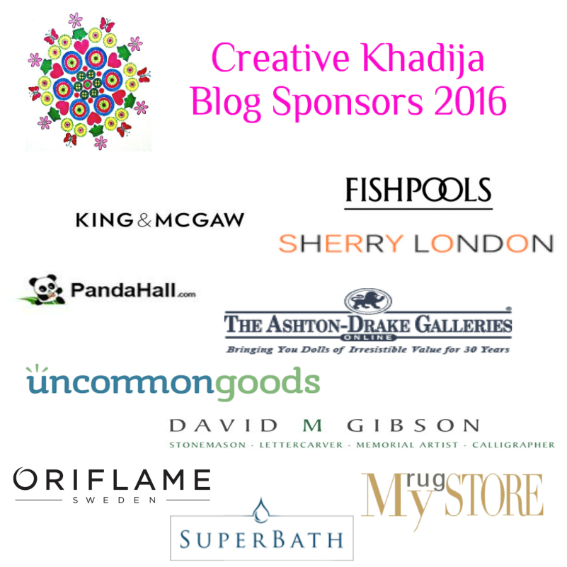 Creative Khadija blog Sponsors 2016