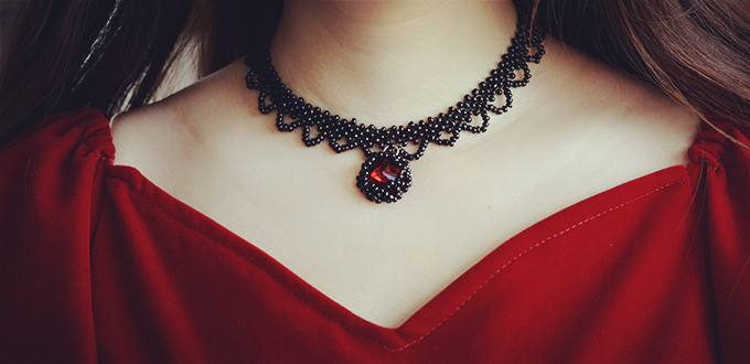 how to make choker necklace at home