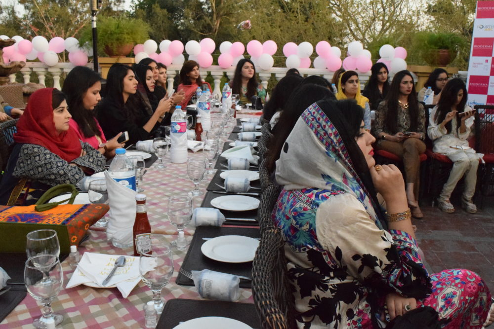 Bioderma islamabad bloggers meet and greet at tuscany courtyard
