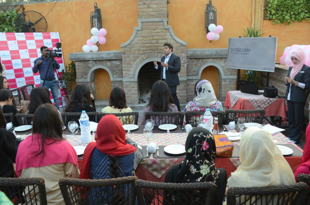 Bioderma islamabad bloggers meet and greet at tuscany courtyard