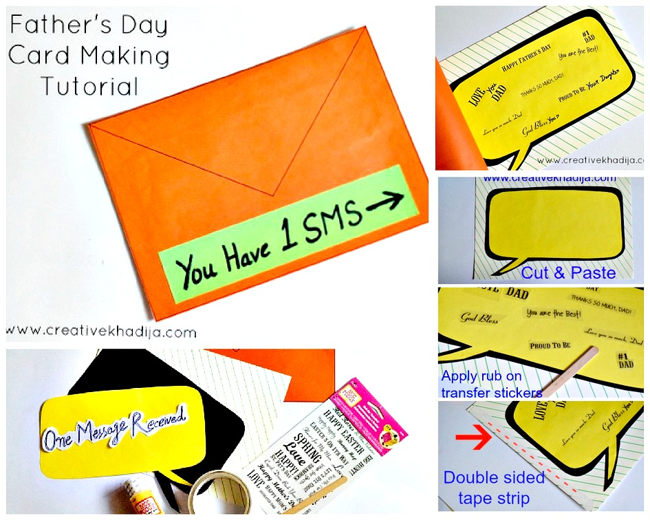 Best and Easy Card making ideas-tutorial for Father's Day art by Creative Khadija Blogger