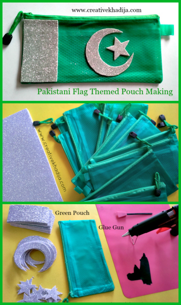 Pakistani Flag Theme Based Green Pouches Designing