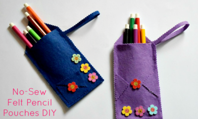 no sew felt fabric pencil case back to school idea