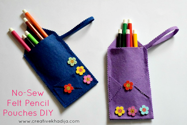 ne sew felt fabric pencil case back to school idea