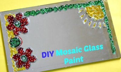 How To Make & Design Glass paint Mosaic Wall Art