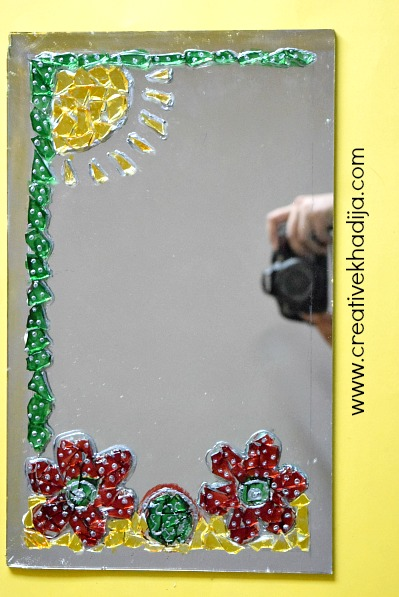 how-to-glasspaint-mosaic-wallart-tutorial-by-creative-khadija-glasspainting-DIY