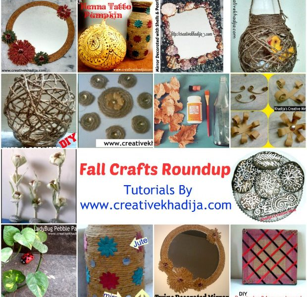 fall crafts ideas & creations roundup post by Creative Khadija