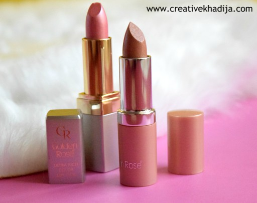 Golden Rose Pakistan Cosmetics Swatches & Review by Creative Khadija