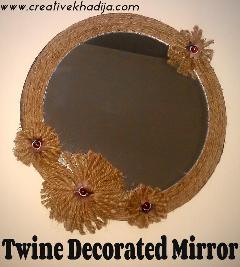 mirror wall art decor tutorial