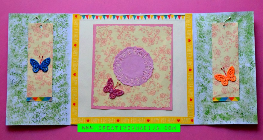 Handmade Birthday Card Making in Mixed Media Style