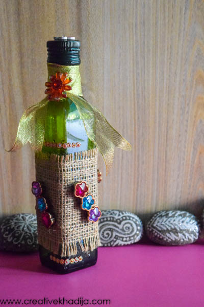 easy creative ideas for glass bottle recycling and decor by creative khadija blog