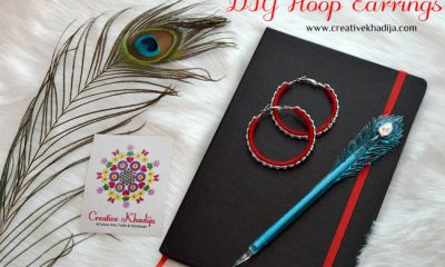how to make thread wrapped hoop earrings jewelry