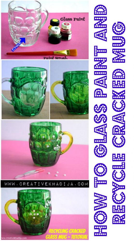 Easy Way To Reuse and Recycle Cracked Glass Mug-Tutorial